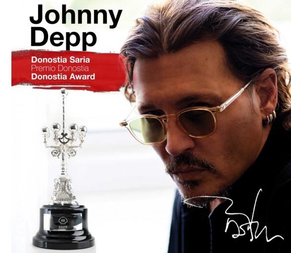Johnny Depp Donostia sari bat Donostia Zinemaldiaren 69. edizioan