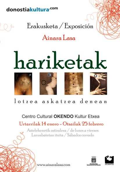 """""""Hariketak; lotzea askatzea denean"""" Okendo Kultur Etxean  (Donostia)"""