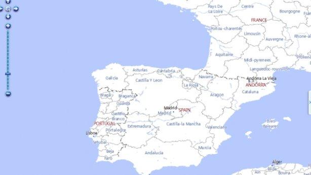 'Map World'-en iberiar penintsula