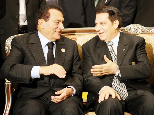 """Mubarak eta Ben Ali """"presidenteak"""""""