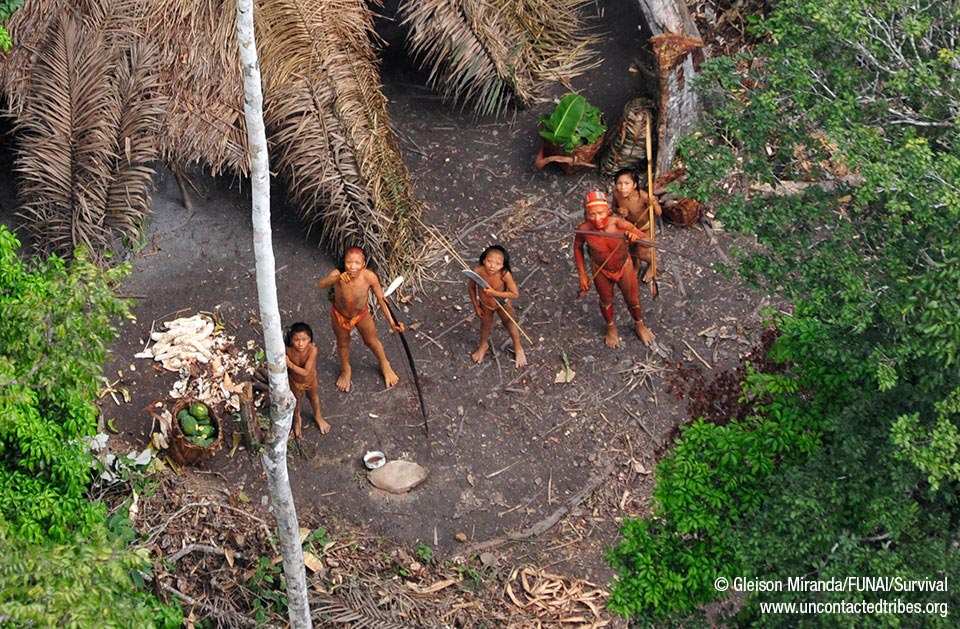 indigenak amazonia oihanean. http://www.uncontactedtribes.org/brazilphotos