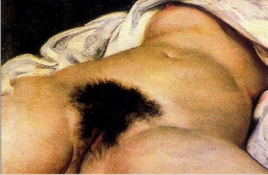 Gustave Courbeten 'L'Origen du monde' koadroa