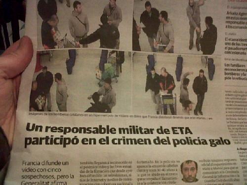 El Correo-k suhiltzaileen argazkia eta ETA lotu ditu zitalki