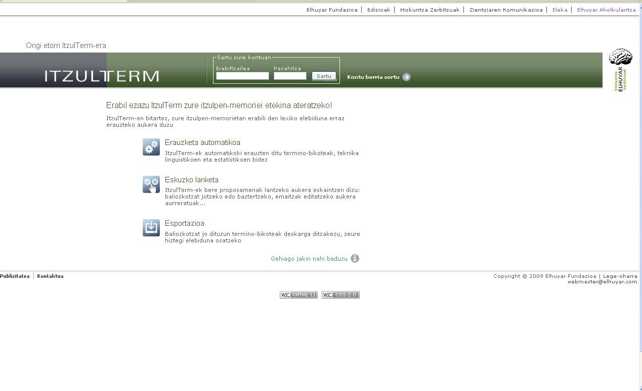ItzulTerm web-zerbitzua sarean