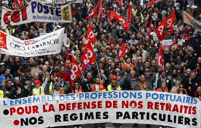 Ez da harritzekoa, Espainiakoen aldean, zenbaitek Frantziako erretreten defentsarako protestak inbidiaz jarraitzea