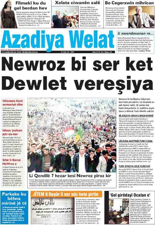 Azadiya Welat egunkariko zuzendaria izango da hitzaldia eskaintzen